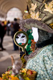 Costume di carnevale di Venezia Fotografia Stock