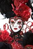 Costume di carnevale di Venezia Fotografie Stock