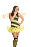 Costume di Halloween dell'ape Fotografia Stock