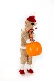 Costume di Halloween della scimmia del calzino Fotografie Stock Libere da Diritti