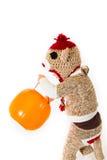 Costume di Halloween della scimmia del calzino Fotografia Stock Libera da Diritti