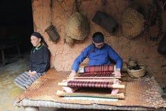 Costume di nazionalità di Li, provincia di Hainan, Cina Fotografia Stock