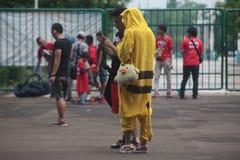 Costume di Pikachu Immagini Stock