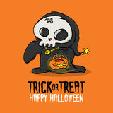 Costume di scherzetto o dolcetto di Halloween Immagini Stock