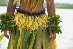 Costume di un ballerino nel Pacifico Meridionale Fotografia Stock Libera da Diritti