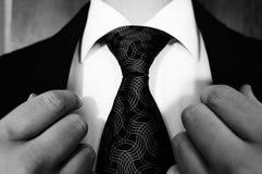 Costume et lien en noir et blanc Images stock