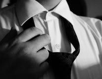 Costume et lien en noir et blanc Photo libre de droits