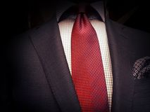 Costume et lien rouge photographie stock libre de droits