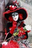 Costume et masque de carnaval de Venise Image libre de droits