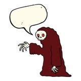 costume fantasmagorique de Halloween de bande dessinée avec la bulle de la parole Photo libre de droits