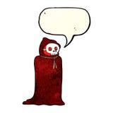 costume fantasmagorique de Halloween de bande dessinée avec la bulle de la parole Photos libres de droits