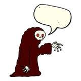 costume fantasmagorique de Halloween de bande dessinée avec la bulle de la parole Image libre de droits