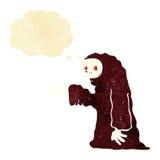 costume fantasmagorique de Halloween de bande dessinée avec la bulle de pensée Images libres de droits