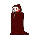 costume fantasmagorique de Halloween de bande dessinée comique Photos libres de droits