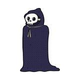 costume fantasmagorique de Halloween de bande dessinée comique Image libre de droits