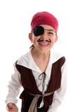 Costume felice del pirata del ragazzo Immagini Stock