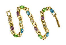 Costume gemstone jewelry bracelet Stock Photography