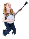Costume Girl Dressed As Hillbilly Royalty Free Stock Image