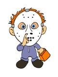 Costume Halloween выходки или обслуживания Иллюстрация вектора