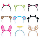 Costume Headbands Collection Royalty Free Stock Photo