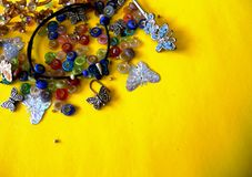 Costume jewelery of butterflies royalty free stock images