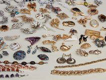 Costume Jewellery. Stock Photo