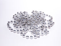 Costume jewelry chain silver beads Royalty Free Stock Photos