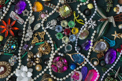 Costume jewelry collage Stock Photo