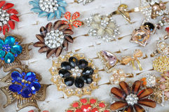 Costume Jewelry On Display Royalty Free Stock Images