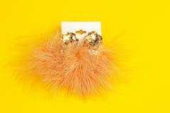 Costume jewelry earings Stock Image