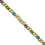 Costume jewelry gemstone bracelet Stock Photos