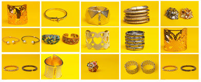 Costume jewelry group Royalty Free Stock Images