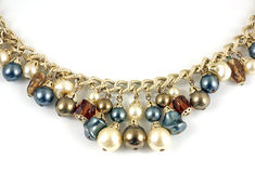 Costume jewelry necklace Royalty Free Stock Images