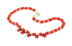 Costume jewelry red bead bracelet Royalty Free Stock Photography