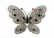 Costume jewerly. A brooch in the shape of butterfly,jewerly stock images