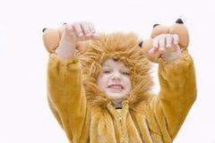Costume-leone di carnevale. immagine stock