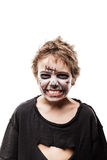 Costume mort de marche criard d'horreur de Halloween de garçon d'enfant de zombi Photos stock