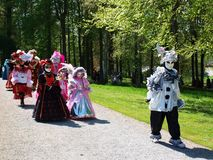 Costume parade in Annevoie Gardens Stock Photos