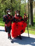 Costume parade in Annevoie Gardens Royalty Free Stock Photography