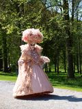 Costume parade in Annevoie Gardens Royalty Free Stock Image