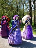 Costume parade in Annevoie Gardens Stock Photography