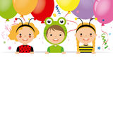 Costume party card Stock Images