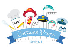 Costume party and photo booth props. profession. Costume party and photo booth props.  profession Stock Images