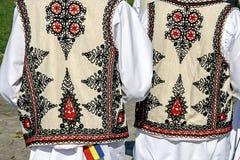 Costume piega rumeno tradizionale. Dettaglio 34 Immagini Stock Libere da Diritti