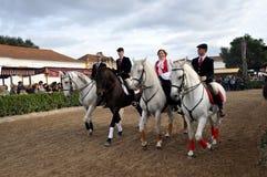 Costume portugais traditionnel d'équitation Photographie stock libre de droits