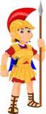 Costume romano d'uso del soldato del ragazzo Immagini Stock Libere da Diritti
