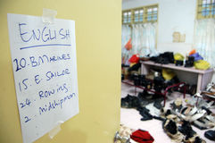 Costume room at movie set Stock Image