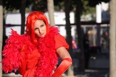 Costume rosso ad orgoglio di San Francisco fotografia stock