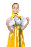 Costume russe s'usant de danse de fille Photos libres de droits