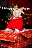 costume santa младенца Стоковое Изображение RF